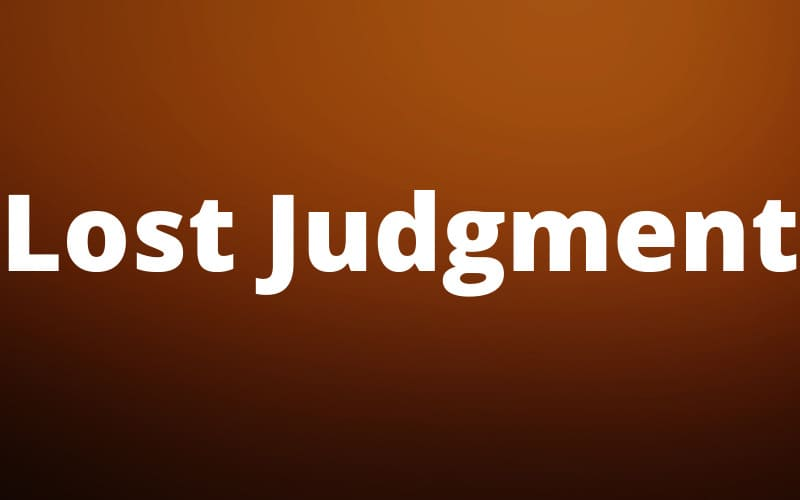 Lost Judgment New Trailer